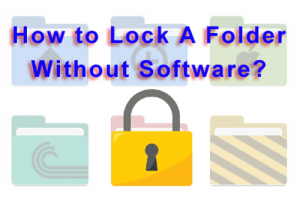 lock folder without software